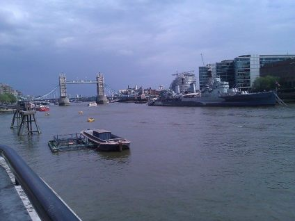 View of the Thames towards Tower Bridge from the conference venue at Old Billingsgate